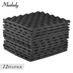 Muslady Studio Acoustic Foams Panels Sound Insulation Foam - Pack of 12pcs