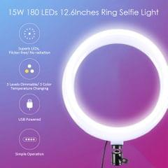 DC5V 15W 180 LEDs 12.6Inches R-ing Selfie Light Round Camera - type 3
