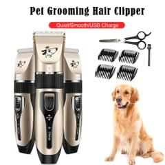 Pet Grooming Hair Clipper Rechargeable Low Noise Cordless - TYPE 1