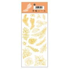 Bronzing Stickers Self-Adhesive Decoration Sticker 1 Sheet - Plant