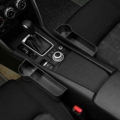 2pcs Black Car Organizer Seat Carriage Bag PU Case Pocket