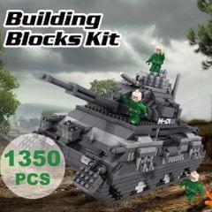 9910-2 Military Model Tank Atomic Building Blocks Kit