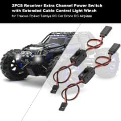 2PCS Receiver Extra Channel Extended Cable with Power Switch
