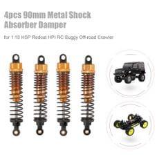 4pcs RC Car Parts 90mm Metal Shock Absorber Damper for 1:10