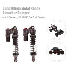 2pcs RC Car Parts 90mm Metal Shock Absorber Damper for 1:10