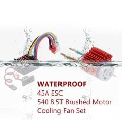 ZD Racing 540 8.5T Brushed Motor with 45A ESC Cooling Fan