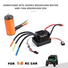 HOBBYFANS 3670 2650KV 4P Brushless Motor 120A 2-4s ESC for