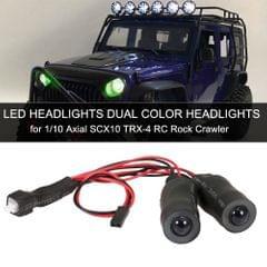 LED Headlights Angel Eyes Dual Color Headlights for 1/10 RC
