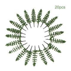 20pcs Mini Plastic Green Trees Scale Architectural Models - 4