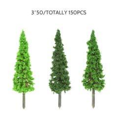 150pcs Mini Architectural Plastic Green Trees Scale Models