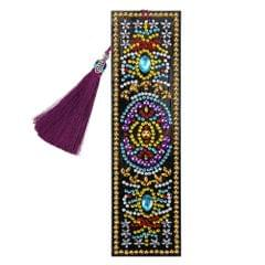 5D Special Shaped Diamond Leather Book Marker with Tassel - 9