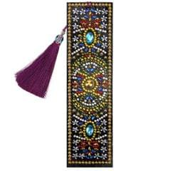 5D Special Shaped Diamond Leather Book Marker with Tassel - 10