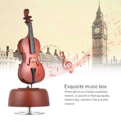 Classical Wind Up Cello Music Box with Rotating Musical Base - Cello Music Box