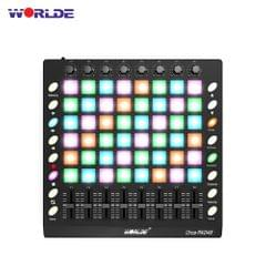 WORLDE PAD48 Portable USB MIDI Drum Pad Controller 48 RGB