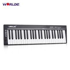 WORLDE KS49C-A 49-Key USB MIDI Keyboard Controller Built-in - With Sound Source