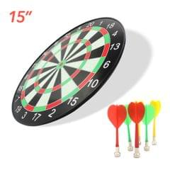 15inch Plastic Dartboard Dart Board Game Set with 6 Magnetic - 15 inch