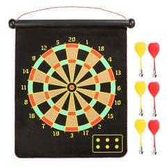 15-inch Magnetic Dart Board Darts  Double Sided Rollup - 15 inch