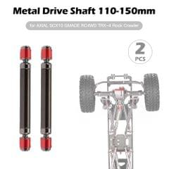 2PCS Metal Drive Shaft 110-150mm for AXIAL SCX10 GMADE RC4WD