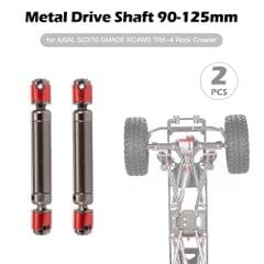 2PCS Metal Drive Shaft 90-125mm for AXIAL SCX10 GMADE RC4WD