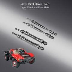 4pcs Front and Rear Metal Axle CVD Drive Shaft for 1/10