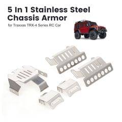 5 In 1 Stainless Steel Chassis Armor Protection Anti-crash