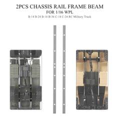 2PCS Military Truck Chassis Rail Frame Beam for 1/16 WPL