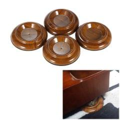 4pcs/set Double Round Acrylic Upright Piano Caster Cups w/