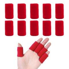 10 Pieces Finger Sleeves Sports Elastic Finger Sleeves