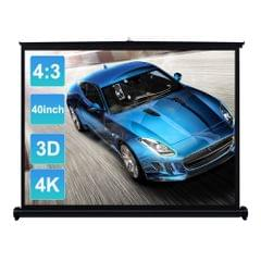40-inch HD Projection Screen Manual Pull Up Folding Tabletop