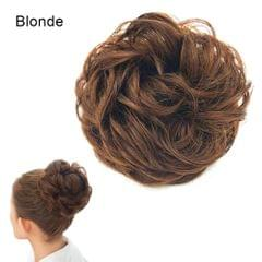 Messy Hair Bun Scrunchie Hair Piece Extension with Elastic