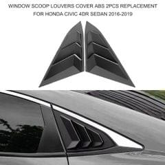 Window Scoop Louvers Cover ABS 2PCS Replacement  for Honda - 1