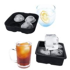 2PCS 4 Grids Ice Cube Trays Release Round & Square Shaped - Type 3