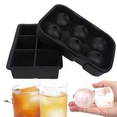 2PCS 6 Grids Ice Cube Trays Release Round & Square Shaped - 2PCS