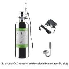 2L Double Aquarium CO2 Generator System Kit CO2 Stainless
