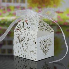 20 PCS Laser Cut Delicate Carved Flower Elegant Candy Boxes - Pack of 20