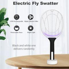 Electric Fly Swatter USB Rechargeable Bright Light Bug