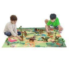 Dinosaur Toy Action Figure Dino Park Play Mat Trees