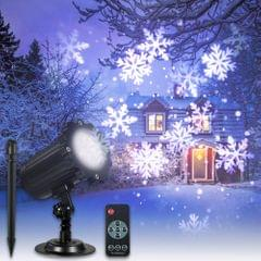 Projection Light Animated Led Projector White Snowflake - US Plug