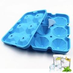 Ice Cube Trays Release Silicone Diamond Shaped 6 Grids Ice
