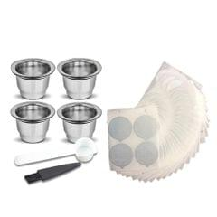 Stainless Steel Fillable Coffee Capsules Set Reusable Coffee - 2