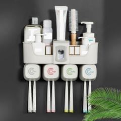 Toothbrush Holder Wall Mounted Storage Shelf Toothbrush