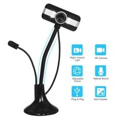 HD USB PC Webcam for Streaming Plug and Play Computer Web