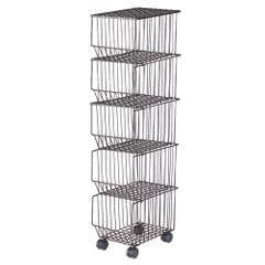 Movable Iron Storage Shelf 5 Layer Tier Drying Mesh Basket