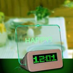 Message Board Digital Alarm Clock LCD Electronic Clock Large - 2