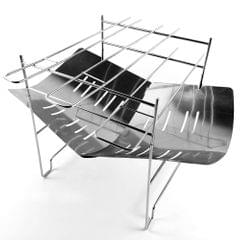 Portable Folding Stainless Steel Barbecue Grill Camp Firepit