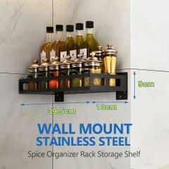 Spice Organizer Rack Wall Mount Stainless Steel Condiment