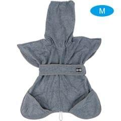 Pet Dog Bathrobe Dog Bath Drying Towel with Hood Belt Soft - M