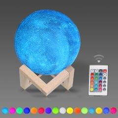 10cm/3.94in 3D Printing Star Moon Lamp USB Led Moon Shaped - 10cm