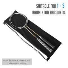 Badminton Racquet Cover Bag Soft Fleece Storage Bag Case for