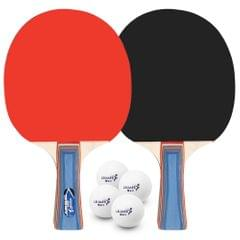 Table Tennis 2 Player Set 2 Table Tennis Bats Rackets with 4